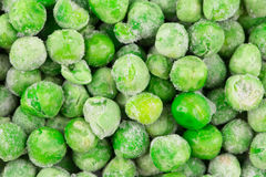 Frozen green peas. Close up. Whole background Royalty Free Stock Images