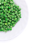 Frozen green peas. Royalty Free Stock Images