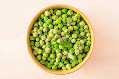 Frozen green peas Royalty Free Stock Photography