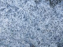 Frozen ground texture background. Background of the soil and snow. Frozen ground. Background of the soil and snow. Ice on the ground. Frozen grass. Winter stock photos