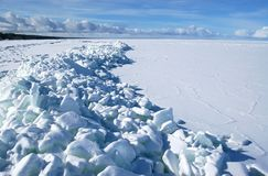 Frozen gulf Royalty Free Stock Photo