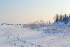 Frozen Gulf of Finland , sunny winter day. Stock Photo
