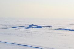 Frozen Gulf of Finland , sunny winter day. Royalty Free Stock Photography