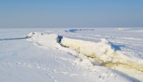 Frozen Gulf of Finland , sunny winter day. Stock Images
