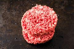 Frozen hamburger Stock Photos