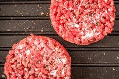 Frozen hamburger Stock Photography