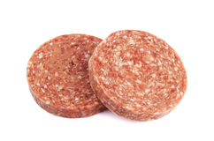 Frozen hamburger patties Stock Image