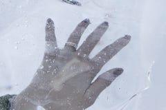 Frozen hand Royalty Free Stock Photo