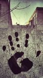 Frozen Hand print Royalty Free Stock Images