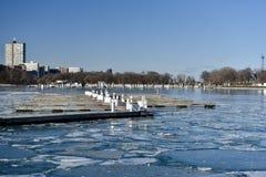 A Frozen Harbor Stock Photo