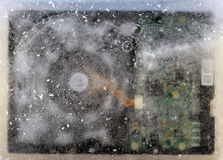 Frozen hard disk Stock Images