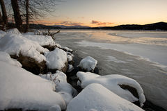 Frozen Hauser Lake. Stock Photography