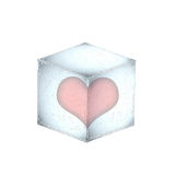 Frozen heart Royalty Free Stock Image
