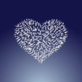 Frozen heart Stock Images