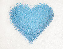Frozen heart Royalty Free Stock Photo