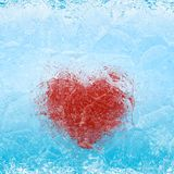 Frozen Heart royalty free stock images
