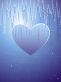 Frozen heart illustration Stock Photography