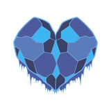Frozen heart illustration object in vector Stock Image