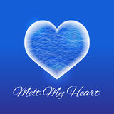 Frozen heart made of ice on a blue background. Vector illustration Royalty Free Stock Photo