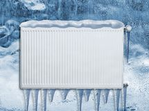Frozen heating radiator Royalty Free Stock Photos