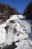 Frozen Hector Falls front view Royalty Free Stock Photography