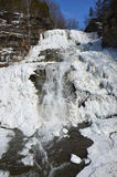 Frozen Hector Falls front view Stock Photo