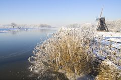 Frozen Holland Royalty Free Stock Photography