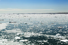Frozen Horizon -  Ice Melting Royalty Free Stock Photos