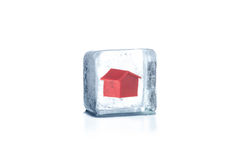 Frozen house. Stock Photography