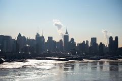 Frozen Hudson Royalty Free Stock Images