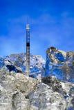 Frozen hypodermic syringe Stock Image