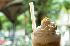Frozen or ice coffee. Ice coffee on the cafe/restaurant Royalty Free Stock Images
