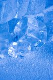 Frozen ice cubes Stock Images