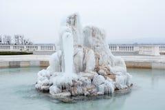 Ice on the fountain Stock Photos