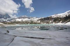 Frozen ice on Italian Alps Royalty Free Stock Photos
