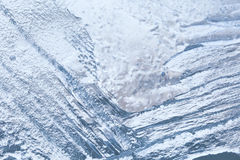 Frozen ice macro view. Icy pattern background. Stock Image