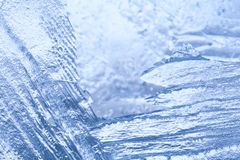Frozen ice macro view. Icy pattern background. Stock Photography