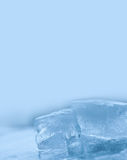 Frozen ice macro view. Icy pattern background. copy space Stock Photo