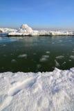 Frozen ice ocean coast - polar winter Stock Image