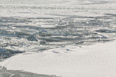 Frozen Ice and Snow on Lake Ontario Stock Images