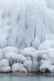 Ice on the waterfall Stock Photos