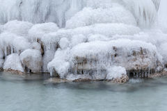 Ice on the waterfall Stock Image