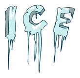 Frozen Ice word, Vector Illustration. Stock Images
