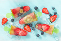 Frozen and iced fuit Royalty Free Stock Photography