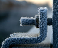 Frozen and iced up nut and bolt Royalty Free Stock Images