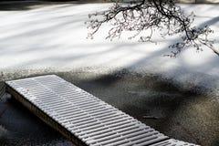 Frozen jetty Stock Image