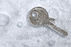 Frozen key Royalty Free Stock Image