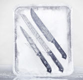 Frozen knives set 1 Stock Images