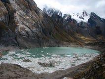 Frozen lagoon Stock Image