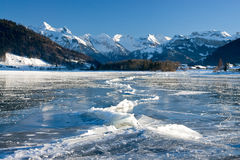 Frozen lake Royalty Free Stock Photo